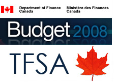 tax free savings account - tfsa - canada budget 2008