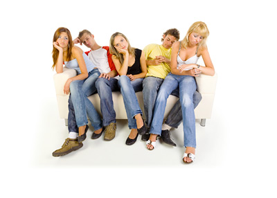 The Millennials - Young People on the Couch - Sad / Bored - Photo