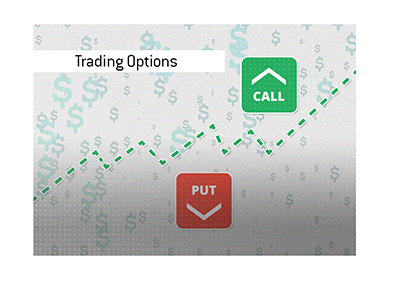 Trading options in the stock market - Calls and Puts - Illustration.