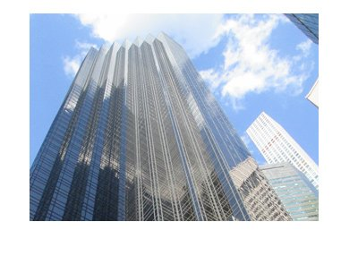 The Trump Tower - New York City - Sunny day - Frog eye view.