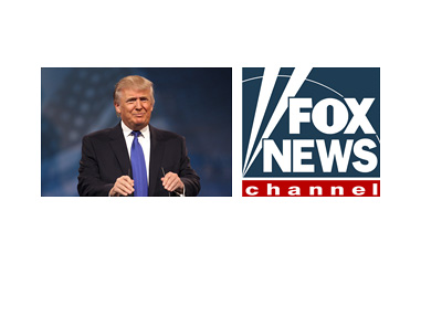 Donald Trump campaign photo next to the Fox News Channel logo - Elections 2016