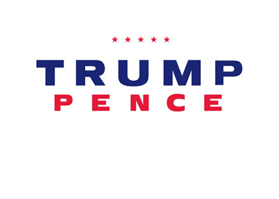 Trump / Pence - Simple logo version with red stars