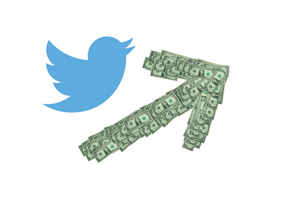 Twitter Stock Rising - Illustration