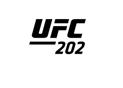 The Ultimate Fighting Championship - UFC 202 - Logo - Black on white