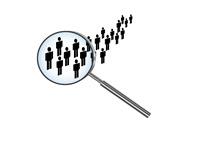 Unemployment Statistics - Under the Magnifying Mirror - Illustration