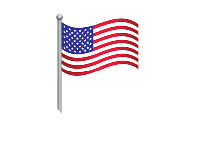 The United States of America - Flag - Illustration