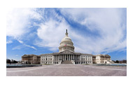United States Senate Building - Capitol Hill - Clear Day