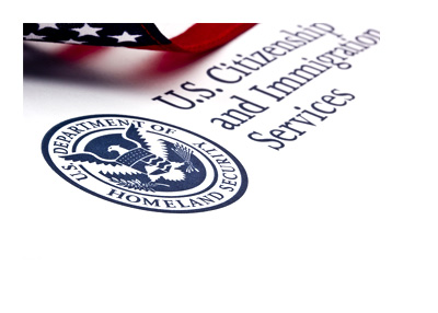 United States Citizenship and Immigration - Seal and Flag - Concept