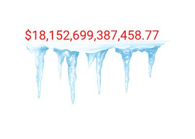 United States Debt Clock 2015 - Frozen - Illustration