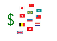 US Debt Countries - Flags