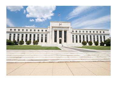 The United States Federal Reserve building - partly cloudy day - FOMC