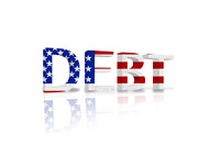 U.S. National Debt - 3D Illustration