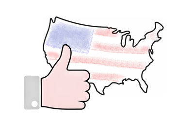 The United States of America - Thumbs up for the economic performance.