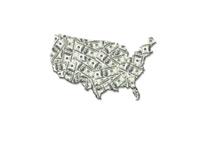 USA - Dollar Map - Illustration