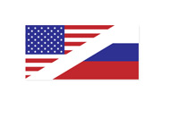 USA and Russia Flags - Illustration