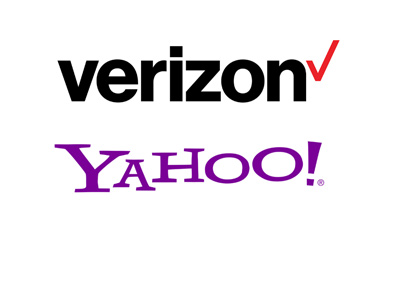 The 2016 versions of the Verizon and Yahoo logos.