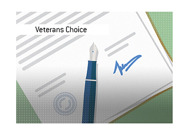 The details behind the signing of the Veteran Access to Care Through Choice, Accountability and Transparency Act.