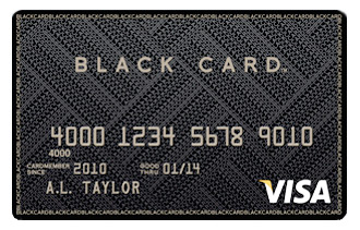 Visa Black Card - On White Background