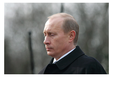 Vladimir Putin - President of Russia - Serious Expression - Visit to Prague
