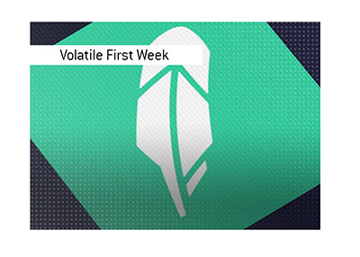 Volatile opening week of trading for the company.  What happens next?