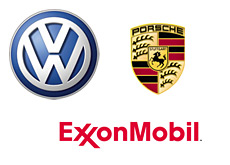 company logos - vw - porsche and exxon--mobile
