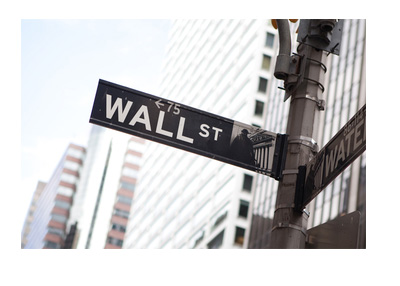 Wall Street Sign - Financial District - New York - Sunny Day
