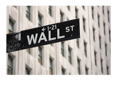 Wall Street sign - New York City - Photo