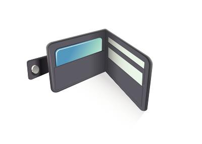 Wallet Illustration - Credit Cards and No Cash
