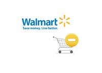 Wallmart logo next to a shopping cart - Illustration