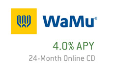 washington mutual - 4 percent apy - 24 month online cd