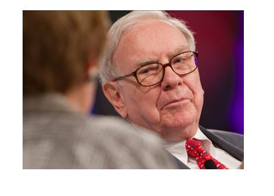 Warren Buffett photographed during an interview.  Archive photo.