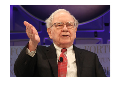 The photo of Warren Buffett telling it the way it is.