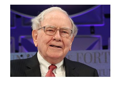 Warren Buffett wins again.  Archive photo.