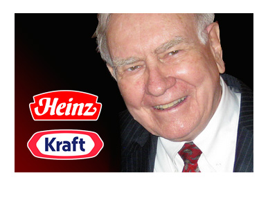 Warren Buffet Photo - Heinz and Kraft company logos