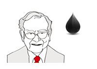 Warren Buffett - Line Drawing - Oil Price - Illustration