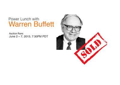Warren Buffett Power Lunch - Ebay Auction - Year 2015 - Sold