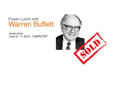 Warren Buffett Power Lunch - Ebay Auction - Year 2015 - Sold