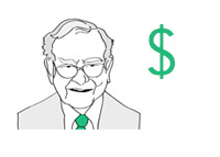 Warren Buffett - Illustration - Thinking Green