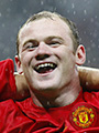 Wayne Rooney celebrating the UEFA Champions League win with Manchester United at the Luzhniki Stadium Moscow on May 21st, 2008