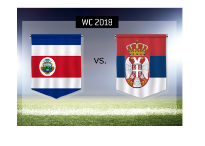 Costa Rica play against Serbia in the group stage of the Russia 2018 World Cup.  Bet on it!