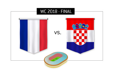 The World Cup 2018 Final - France vs. Croatia - Bet on it!