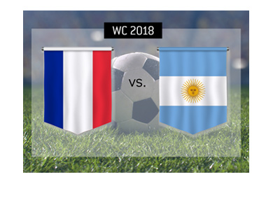 France vs. Argentina - World Cup match preview and betting information.  Round of 16 - 2018 Russia.