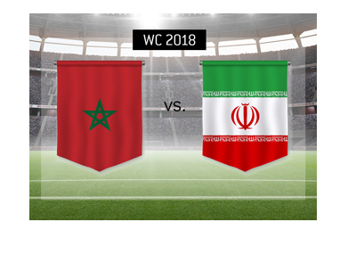 Morocco play Iran in one of the opening matches of the World Cup 2018, Russia.  This is a Group B matchup.  Bet on it!