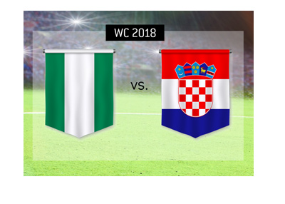 The World Cup 2018 match featuring Nigeria and Croatia.  Betting odds and game preview.