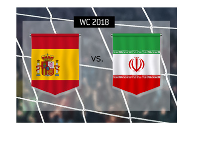 Spain play Iran in the 2nd round of group stage games at the Russia World Cup.  Bet on it!