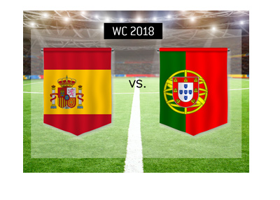 Spain meet Portugal in the first round of group stage games at the 2018 World Cup in Russia.  Bet on it!