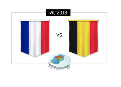 World Cup Russia semi-finals matchup - Belgium vs. France - Bet on it!
