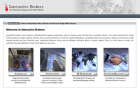 company website - interactive brokers
