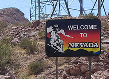 -- Welcome to Nevada - Street Sign --