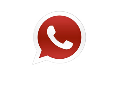 Whatsapp Logo - Red Colour